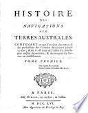 Histoire des navigations aux Terres Australes