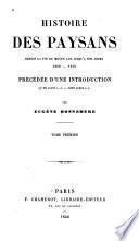 Histoire des paysans, depuis la fin du moyen âge jusqu'à nos jours, 1200-1850
