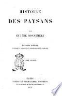 Histoire des paysans par Eugène Bonnemère