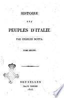 Histoire des peuples d'Italie par Charles Botta. Tome premier -troisieme!