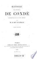 Histoire des princes de Conde