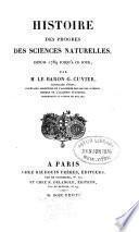 Histoire des progrès des sciences naturelles