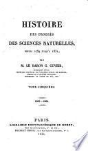 HISTOIRE DES PRORES DES SCIENCES NATURELLES