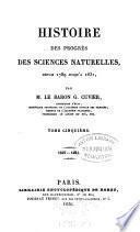 Histoire des sciences naturelles depuis leur origine chez tous les peuples connus