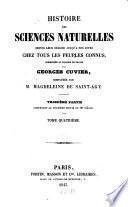 Histoire des sciences naturelles