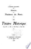 Histoire des théâtres de Paris