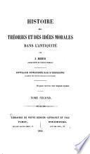 Histoire des Theorise et des Idees Morales