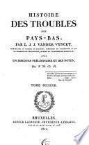 Histoire des troubles de Pays-Bas, sous Philippe II