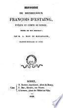 Histoire du bienheureux François d'Estaing
