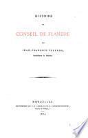 Histoire du Conseil de Flandre ...
