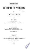 Histoire du droit et des institutions de la France: Époque monarchique