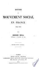 Histoire du mouvement social en France, 1852-1910