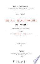 Histoire du Tribunal Revolutionnaire de Paris