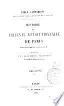 Histoire du tribunal révolutionnaire de Paris