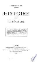 Histoire et littérature