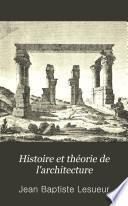 Histoire et théorie de l'architecture