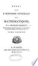 Histoire générale des Mathématiques