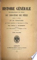 Histoire générale ecclésiastique et civile du diocèse de Séez
