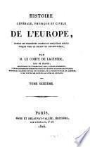 Histoire Generale, Physique Et Civile De L'Europe