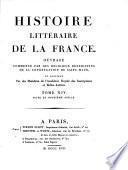 Histoire literaire de la France: XIIe siècle