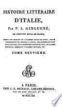 Histoire littéraire d'Italie