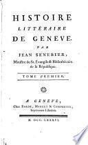 Histoire littéraire de Genève