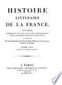 Histoire litteraire de la France