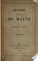 Histoire littéraire du Maine