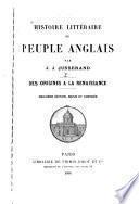 Histoire littéraire du peuple anglais