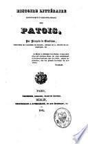 Histoire littéraire, philologique et bibliographique des patois