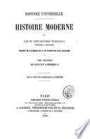 Histoire moderne par George Weber