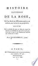 Histoire naturelle de la rose