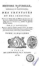 Histoire naturelle générale et particulière des crustacés et des insectes
