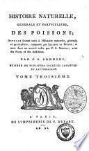 Histoire naturelle, générale et particulière, des poissons