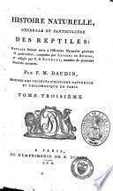 Histoire naturelle, générale et particulière, des reptiles