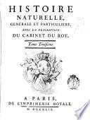 Histoire naturelle générale et particuliére