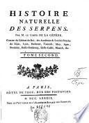 Histoire naturelles des quadrupèdes, ovipares et des serpents