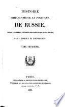 Histoire philosophique et politique de Russie