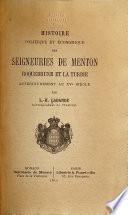 Histoire politique et économique des seigneuries de Menton