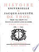 Histoire Universelle de Jacque Auguste De Chow, 11
