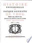 Histoire Universelle de Jacque Auguste De Chow, 14