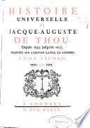 Histoire universelle de Jacque-Auguste de Thou