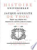 Histoire universelle de Jacques-Auguste de Thou
