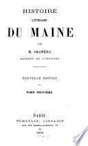 HISTORIE LITTERAIRE DU MAINE