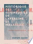 Historique des seigneuries de Laversine et Malassise