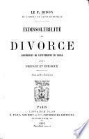 Indissolubilité et divorce