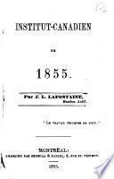 Institut-canadien en 1855