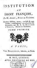 Institution au Droit François