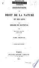 Institutions de droit de la nature et des gens