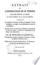 Instruction de Mr Tessier surr les bêtes à laine (mérinos) et considératons particulières au Pas-de-Calais